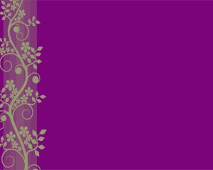 Plantilla de Power Point de Flor de Violeta Gratis