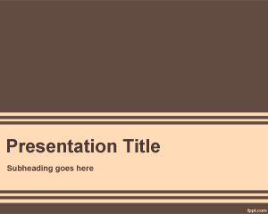 Plantillas marrones de Microsoft PowerPoint