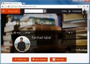 Incruste archivos de Word, Excel y PowerPoint en su sitio web mediante Docs.com