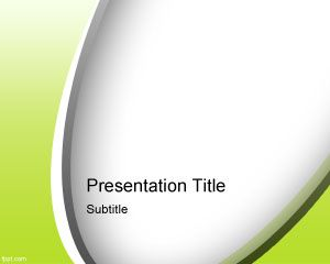 Plantilla de PowerPoint Verde Abstracto