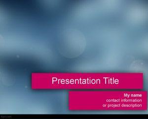 Plantilla de PowerPoint espasmódica