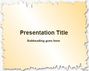 Marco de papel roto Plantilla de PowerPoint