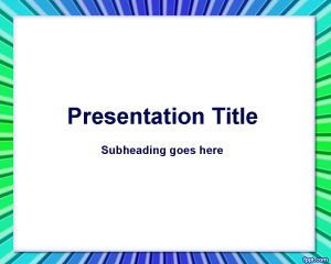 Plantilla de PowerPoint de Color Rectangular