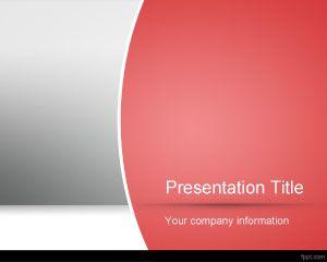 Plantilla roja de PowerPoint