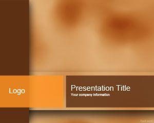 Plantilla de PowerPoint de Color Marrón