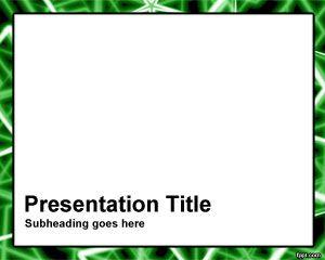 Plantilla de PowerPoint de Marco de Barras Verdes