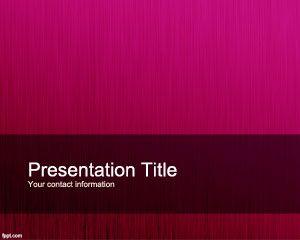 Plantilla de PowerPoint Personalizada Fucsia