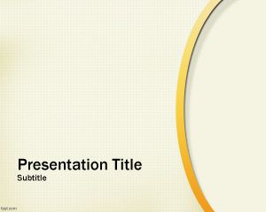 Plantilla Abstract Gold de PowerPoint