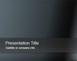 Plantilla de PowerPoint Abstracto Oscuro