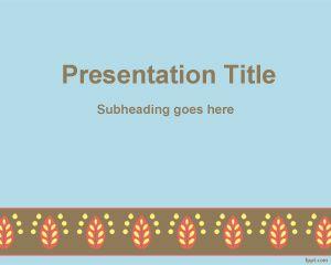 Plantilla de PowerPoint con borde rococó