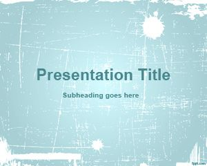 Plantilla de PowerPoint de Cyan Abstract