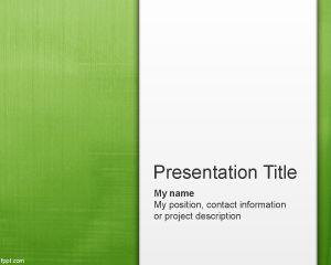 Plantilla de PowerPoint Abstracto Verde Claro