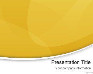 Amarillo Moderno PowerPoint Plantilla