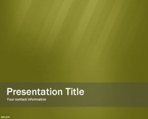 Plantilla PowerPoint de Green Buyer